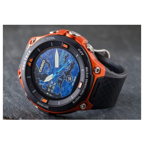 CASIO PRO TREK WSD-F20-RG Smart Outdoor Watch Android Wear ...